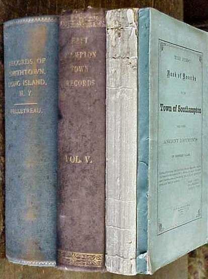 13A: 4 BOOKS OF LONG ISLAND RECORDS: EASTHAMPTON, SMITH