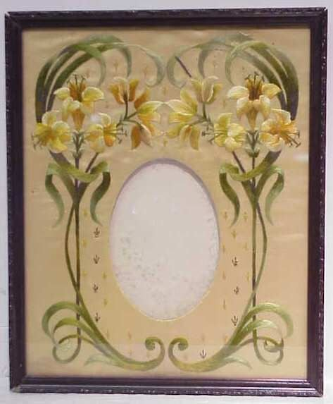 6A: 19THC EMBROIDERED PICTURE FRAME