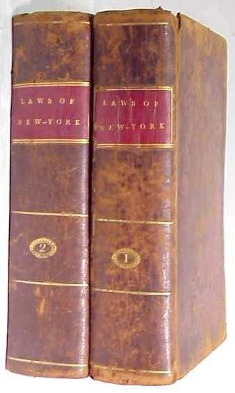 16A: 2 VOLUMES/LAWS OF THE STATE OF NY,1802
