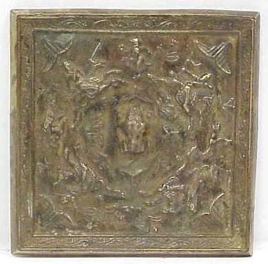 "1099: TANG DYNASTY CHINESE BRONZE MIRROR, 6 1/4"" SQUARE"