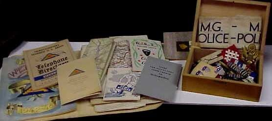 1014A: WWII MEMORABILIA: GERMAN 1945/6 BOOKLETS, MOSTLY