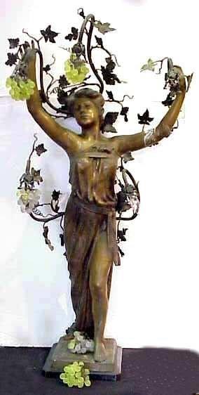 1142: ALBERT REIMANN (1874-? EUROPE) ART NOUVEAU METAL
