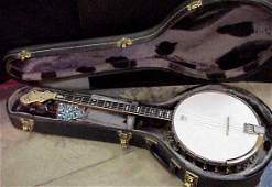 1147 LYRIC BANJO MOTHER OF PEARL INLAID ON NECK