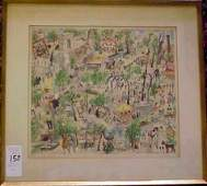 2158 FRENCH HAND COLORED LITHOGRAPH DEPICTING VARIOUS