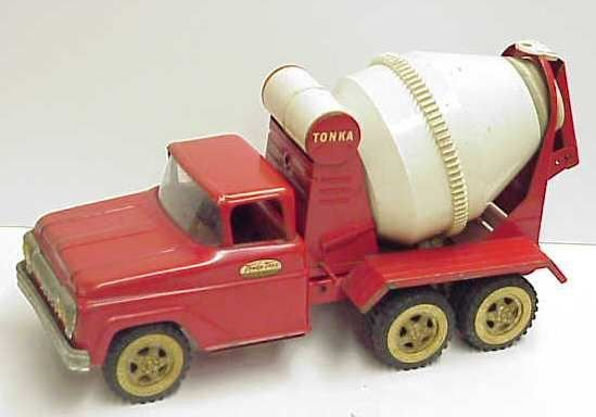 2037A: TONKA TOY METAL CEMENT MIXING TRUCK