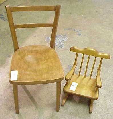 2004: CHILD'S SIDE CHAIR & DOLL'S ROCKING CHAIR