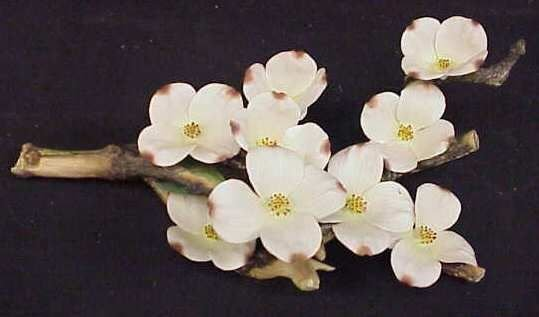 25A: BOEHM PORCELAIN FLOWERING DOGWOOD BRANCH