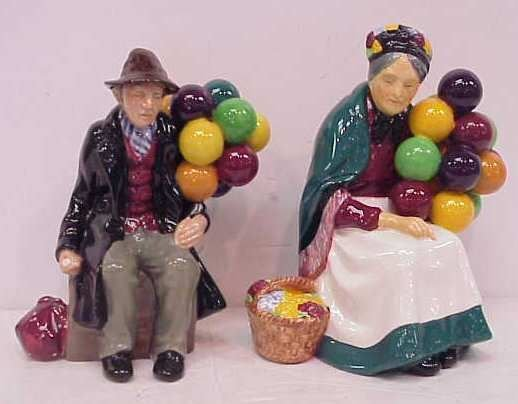 27A: 2 ROYAL DOULTON, THE OLD BALLOON SELLER & BALLOON
