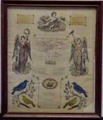 1070A 19TH PENNSYLVANIA DUTCH FRAKTUR CERTIFICATE OF