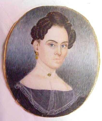 1015A: MINIATURE PORTRAIT OF A WOMAN ON CELLULOID?