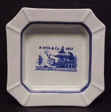 """2012A: ROYAL CROWNFORD IRONSTONE ADVERTISING PLATE """"P."""