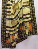 109 EARLY MENS SUIT ADVERTISING QUILT MADE OF VINTAG