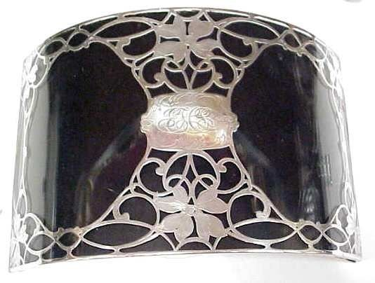166A: STERLING (?) SILVER OVERLAY PICTURE FRAME