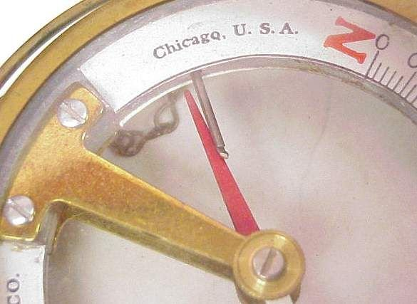 1188: DIP NEEDLE, MARKED: WS DARLEY & CO CHICAGO, US - 5
