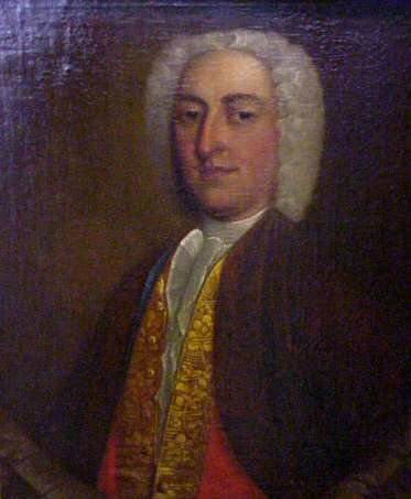 2028: 18THC ENGLISH PORTRAIT OF A GENTLEMAN, OIL ON CAN