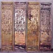 2294 FOUR ART DECO BRONZE RELIEF DOORS EGYPTIAN MOTIF