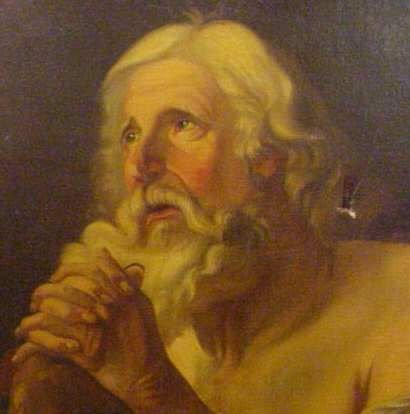 2052: 18THC OLD MASTER PORTRAIT OF AN OLD MAN PRAYING - 2