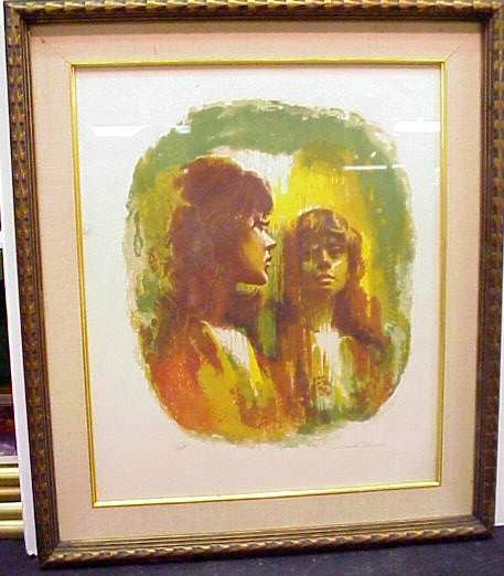 2009: GIRL LOOKING IN THE MIRROR, LITHOGRAPH