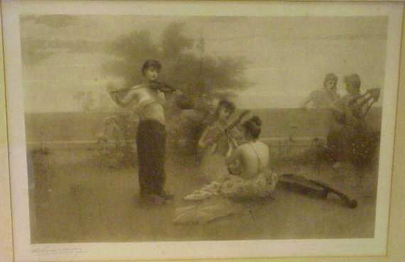 2006: WOMEN PLAYING INSTRUMENTS IN THE GARDEN, 19TH C P