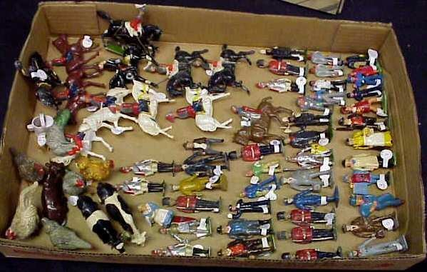 3A: LOT VINTAGE PAINTED LEAD FIGURES, INCLUDING SOME BR