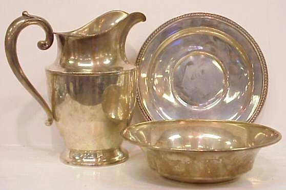 19A: WALLACE STERLING SILVER PITCHER, 4 PINT, NO MONOGR