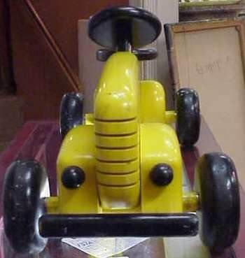 1233A: SCREAMIN STEVENS WOODEN TOY RACING CAR, PAINTED  - 2