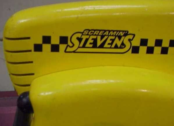 1233A: SCREAMIN STEVENS WOODEN TOY RACING CAR, PAINTED  - 3