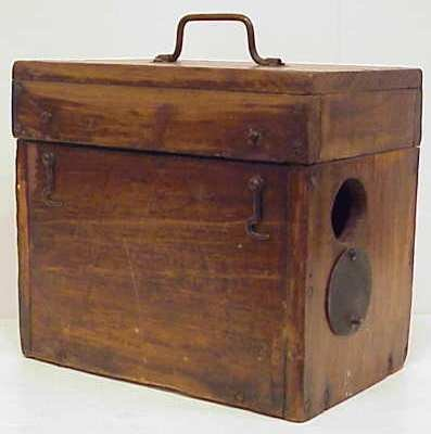 """2: 19THC INVENTION """"DR JEROME KIDDER"""" DEVICE IN WOOD BO"""