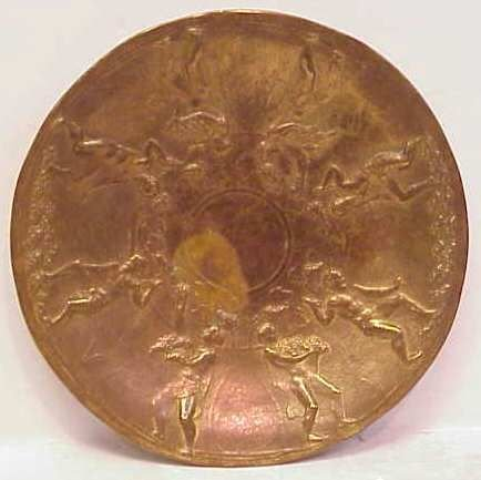 """8A: GORHAM BRONZE PLATE """"AFTER ARRETINE BOWL MADE IN T"""