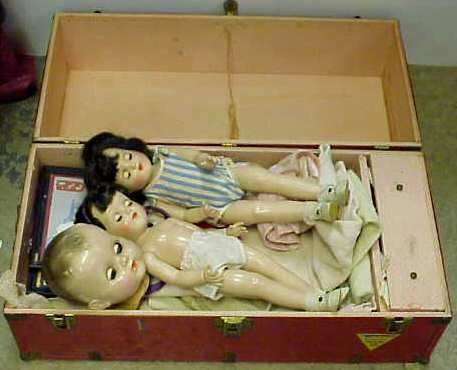 """30A: VINTAGE DOLL LOT: TWO IDEAL DOLLS #P-91, 15 1/2""""H"""