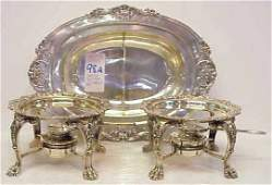98A PR REED  BARTON FRANCIS I STERLING SILVER BURNERS