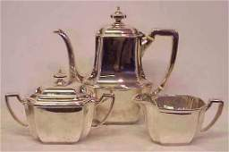 136A TIFFANY  CO MAKERS STERLING SILVER TEA SET 2 1