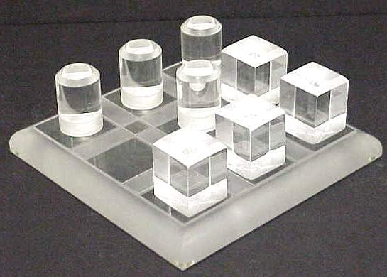 2003: 1970'S LUCITE TIC-TAC-TOE BOARD, BOARD MEASURES 1