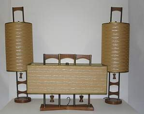 2018: 1950'S DANISH MODERN / FINE PAIR OF TABLE LAMPS A