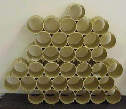 2012A: ALUMINUM SCULPTURAL WINE RACK
