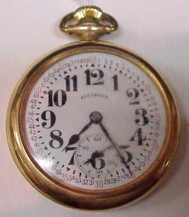 3012: GOLD FILLED ILLINOIS POCKET WATCH & GOLD FILL WAT