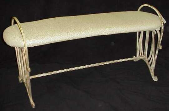 18: PAINTED WROUGHT IRON BENCH