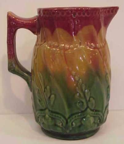 6: MAJOLICA PITCHER (CHIP ON SPOUT)