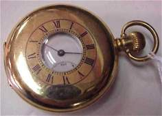 SWISS MADE POCKET WATCH, GOLD FILLED CASE, WORKS