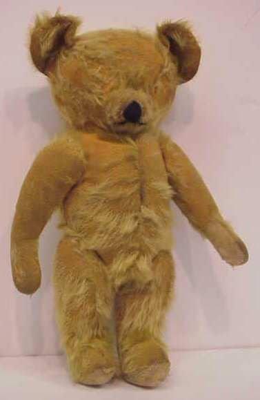 "20A: EARLY TEDDY BEAR, HUMP BACK, 13 1/2""H, MISSING EY"