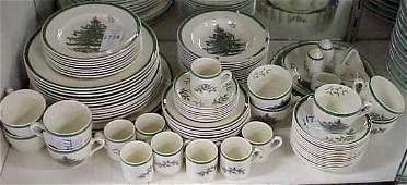 177A LOT OF SPODE CHRISTMAS TREE DINNERWARE AND SE