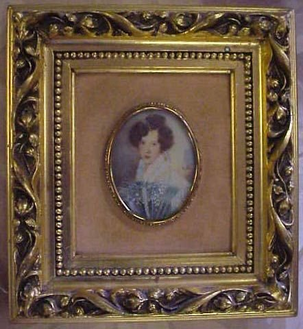 1024: HAND PAINTED PORTRAIT OF A LADY, SIGNED CURTIS, 3