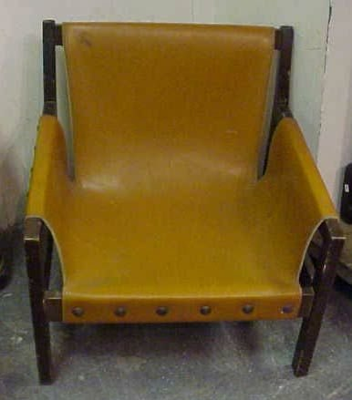 1022A: 1950'S FRENCH LOUNGE CHAIR