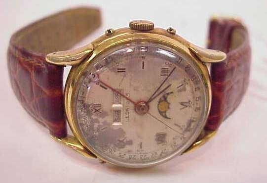 2017: 1940 LEONIDIS MEN'S WATCH, FACE AS FOUND