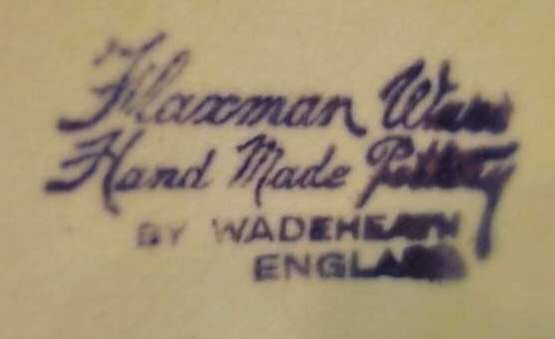 2114: FLAXMAN WARE POTTERY VASE, BY WADEHEATH ENGLAND,  - 3