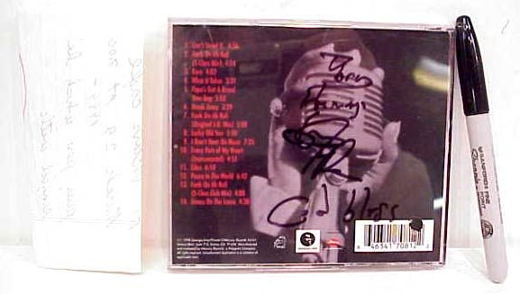 "2012: JAMES BROWN AUTOGRAPHED CD ""I'M BACK"", ALSO IN"