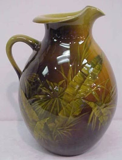 2146A: ROOKWOOD ART POTTERY VASE PAINTED WITH PALM FRON