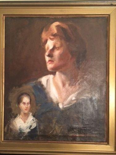 Jane Peterson,original signed,self portrait