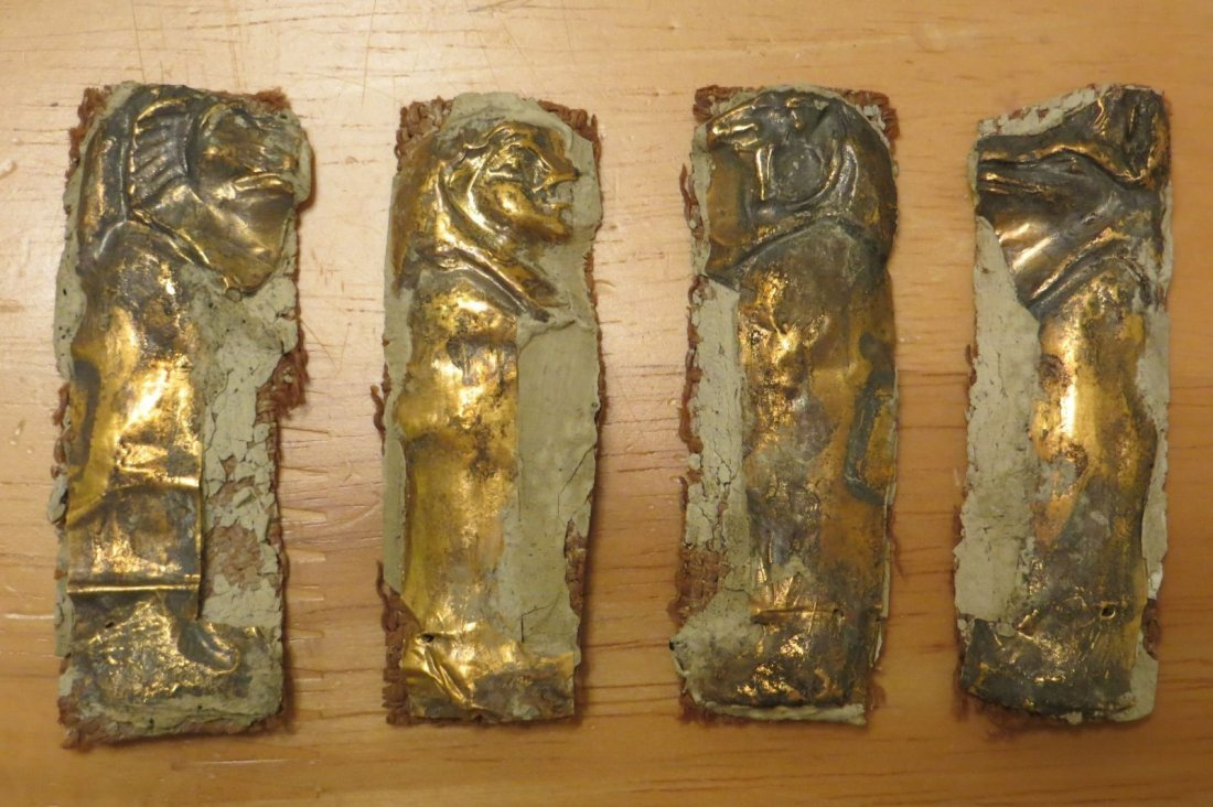 Original pure gold Egyptian 4 sons of houris (4 parts)