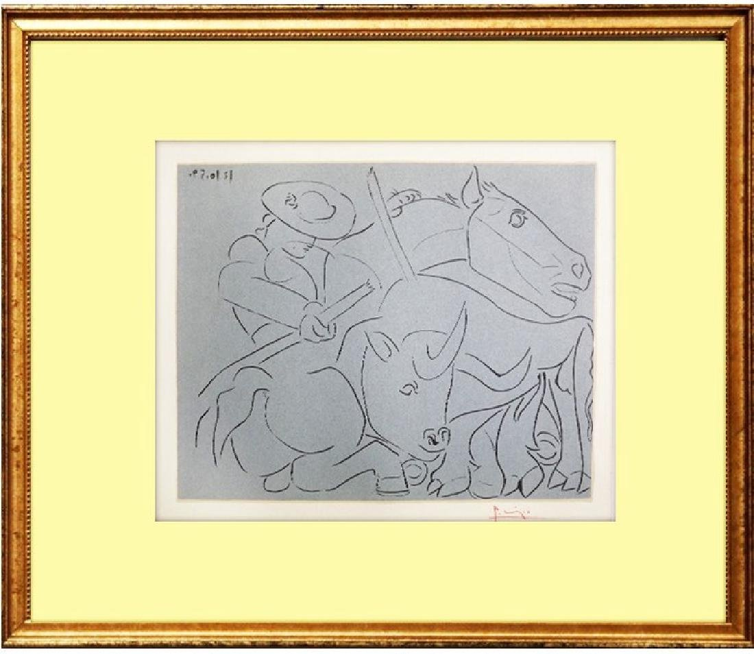 Signed Pablo Picasso Linocut